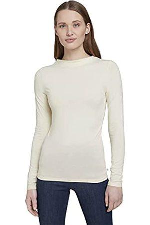 TOM TAILOR Damen 1022071 Longsleeve T-Shirt, 22515-Soft Creme