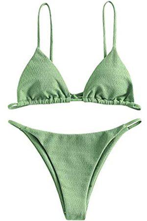 Zaful Gerippter O-Ring String Bikini für Damen, niedrige Taille