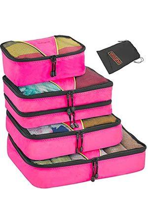 Valyne Packing Cubes 4-teiliges Set Gepäck-Organizer-Taschen mit gratis Schuhbeutel (Pink) - 43531-10792