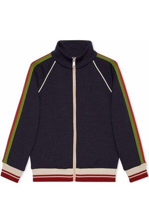 Gucci Kids Jungen Sommerjacken - Jacke mit Besatzstreifen