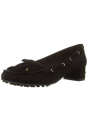 Nine West Women's Westby Suede Moccasin, Black