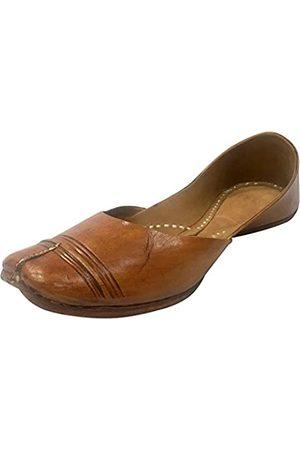 Step n Style Mojari Juti Khussa Leder-Flip-Flops für Damen, traditionell, handgefertigt