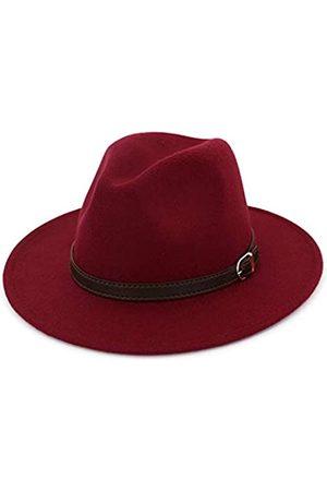 Fange Herren Hüte - Herren & Damen Panamahut Klassische breite Krempe Fedora Hut mit Gürtelschnalle - - Einheitsgröße