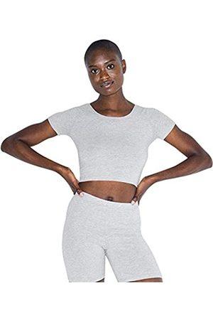 American Apparel Damen Cotton Spandex Jersey Short Sleeve Crop T-Shirt