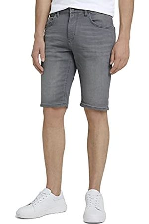 TOM TAILOR Herren 1026075 Josh Slim Denim Bermuda Shorts, 10218-Used Light Stone Grey