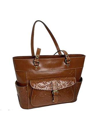 Patricia Nash Damen Handtaschen - Bolsena Leder-Tragetasche mit Reißverschluss