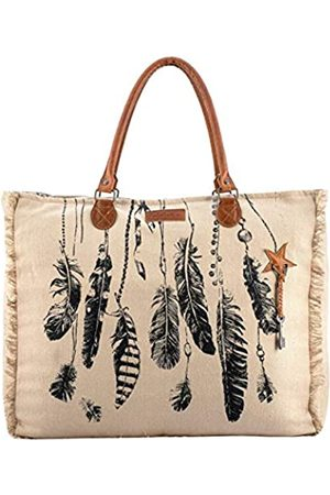 Sixtease SB-2009 Reisetasche aus Segeltuch und echtem Leder
