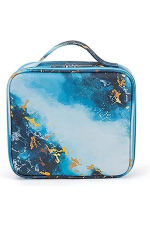Soumeanz Moderne Reise-Kosmetiktasche aus Leder mit verstellbaren Trennwänden, Kosmetiktaschen für Damen