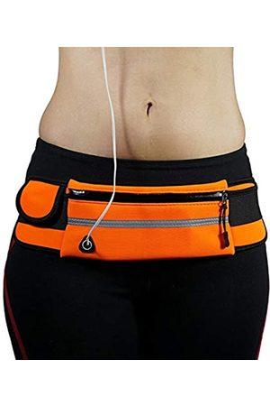 LuckyZhe Reflektierender Laufgürtel mit Wasserflaschenhalter für Damen und Herren, Hüfttasche für Fitness, Workout, Walking, Laufen, Wandern, Radfahren