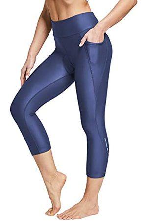 SPECIALMAGIC Hohe Taille Capri Leggings für Frauen Radfahren Bauch Kontrolle Leggings mit Taschen Bike Pants Frauen mit Polsterung - - Groß