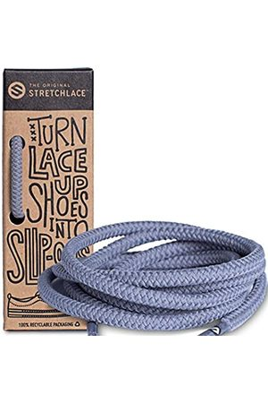 THE ORIGINAL STRETCHLACE Round Shoelaces, No-tie Elastic Shoelaces, Stylish Shoe Laces for Elderly, Kids, and People with Special Needs, Grey