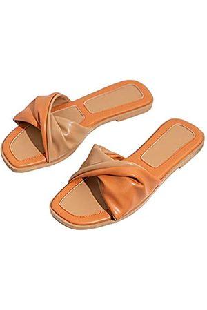 Trish Lucia Damen Hausschuhe - Flache Damen-Sandalen mit offenem Zehenbereich, Pantoffeln, Pantoffeln, geflochtene Riemen, Slipper, (#2 )