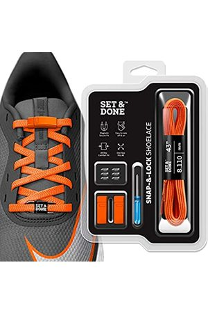 Set & Done Magnetic No Tie Stretch Shoelaces for Adults Kids Sneakers-Tieless Quick & Easy Snap Lock