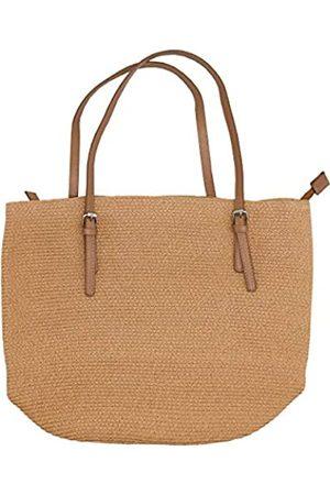 Surell Sommer-Tasche aus Stroh, mit abnehmbaren Riemen, handgewebt, Strand-/Urlaubs-Handtasche