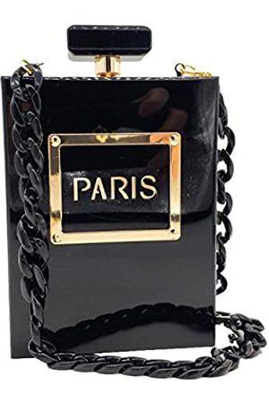 Boutique De FGG Schwarze Paris-Parfüm-Form Frauen Acryl Box Clutch Abendtasche Party Geldbörsen Cocktail Handtaschen