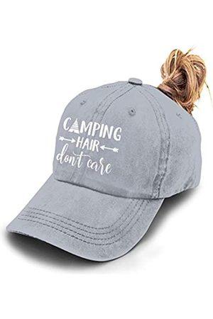 HHNLB Camping Hair Don't Care Pferdeschwanz-Hut, Denim, gewaschen