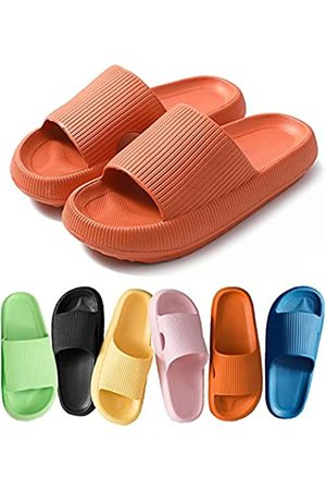 COVS Herren Halbschuhe - Pillow Slides Slippers, Non-Slip Quick Drying Slipper for Womens/Mens,Massage Pool Foam Bathroom Super Soft Thick Sole Indoor Home Open Toe Sandals EVA Platform ( , 40-41
