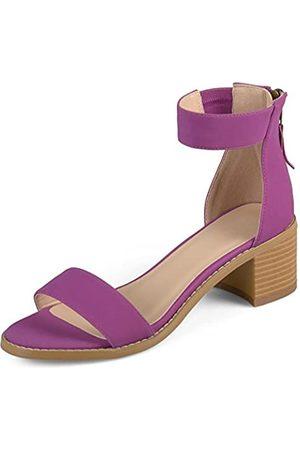 Journee Collection Damen-Sandalen mit Knöchelriemen und Quasten., (pflaume)