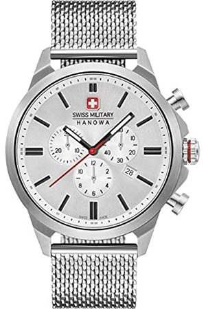 Swiss Military Hanowa Unisex Erwachsene Analog Quarz Uhr mit Edelstahl Armband 06-3332.04.001