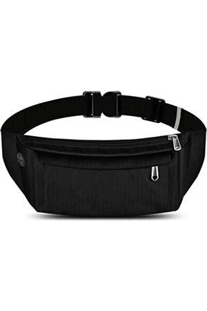 EAGLERY Große Bauchtasche mit 4 Reißverschlusstaschen, für Workout, Reisen, Laufen, Freizeit, freihändige Geldbörsen, Hüfttasche