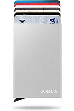 LUNGEAR RFID-Kreditkartenhalter, minimalistisch, dünn, Pop-Up-Fronttasche, Kartenschutz