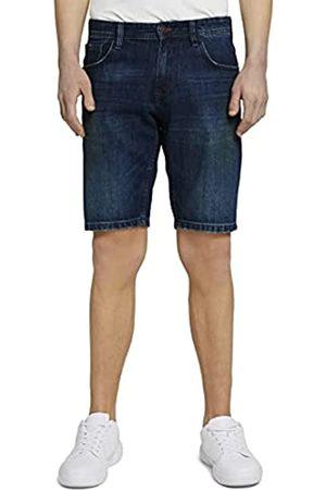 TOM TAILOR Herren 1025527 Denim Bermuda Shorts, 10120-Used Dark Stone Blue