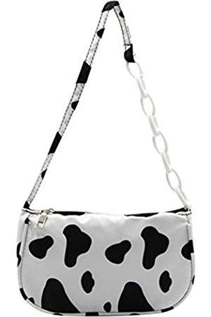 Suillty Modische Handtasche aus Nylon mit-Aufdruck, Schultertasche für Frauen und Mädchen, Mehrere (kuh)