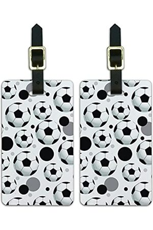 Graphics and More Graphics & More Luggage Suitcase Carry-on Id Tags-Soccer Football-Ball