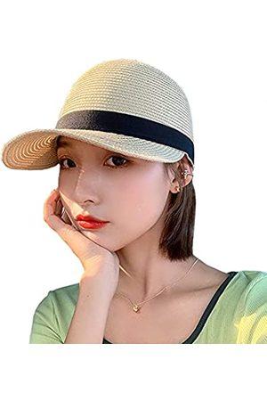 FADACHY Damen Hüte - Strohhut für Damen, Sonnenschutz, UV-Schutzfaktor 50+, verstellbarer Strandhut mit Pferdeschwanz