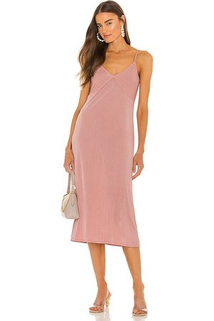 LINE & DOT Jeanie Slinky Midi Slip Dress in . Size XS, S, M.