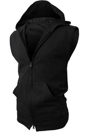 H2H Herren Active Fashion ärmellose Kapuzenjacke mit Reißverschluss Gr. M