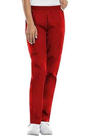 Cherokee Women's Workwear Elastic Waist Cargo Scrubs Pant, Red