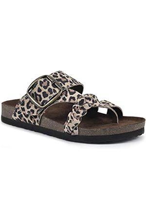 White Mountain Damen Heartfelt Sandale, Leoparden-/E-Print Wildleder