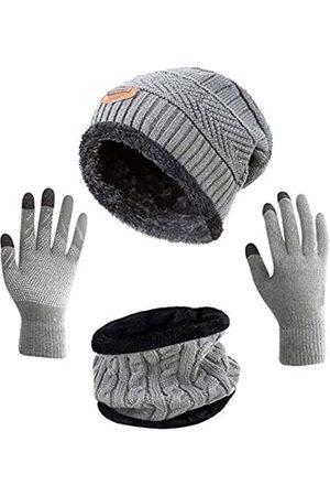 HINDAWI Wintermütze, Schal, Handschuhe, Schlappmütze, Touchscreen Handschuhe
