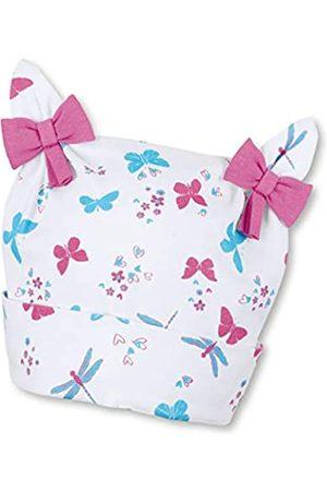 Sterntaler Knotenmütze für Mädchen mit Schleifchen, Schmetterling- und Libellen-Motive, Alter: 3-4 Monate, Größe: 39