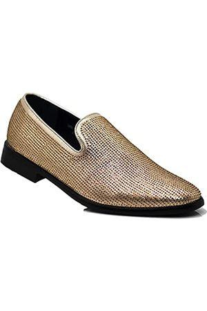 Alberto Fellini Herren Halbschuhe - SPK24 Herren Vintage Spikes Sparkle formelle Smoking Bühne Mode Slip On Loafer Kleid Schuhe, ( 29.)