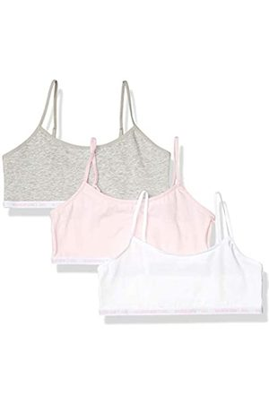 Maidenform Mädchen Logo Band Cotton Crop Bra, 3 Pack Trainings-BH, Parfait Pink/ /
