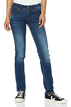 G-Star Damen Straight - Damen Jeans Midge Saddle Mid Waist Straight, Dk Aged 6553-89