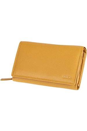 Mika 42168 - Damengeldbörse aus Echt Leder, Portemonnaie im Querformat, Geldbeutel mit 12 + 4 Kartenfächer, Netzfach, Scheinfach und doppeltes Münzfach, Brieftasche in, ca. 15 x 10,5 x 4