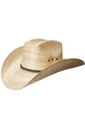 MEXIMART Herren Hüte - 8 Second Cowboy-Hut, mexikanischer Palmblatt, hellbrauner Stroh