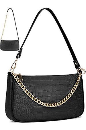 NUBILY Damen Umhängetaschen - Kleine Schultertasche für Frauen Klassische Clutch Schulter Tote Handtasche Leichte Krokodil Geldbörse Mini Handtaschen mit Reißverschluss PU Leder