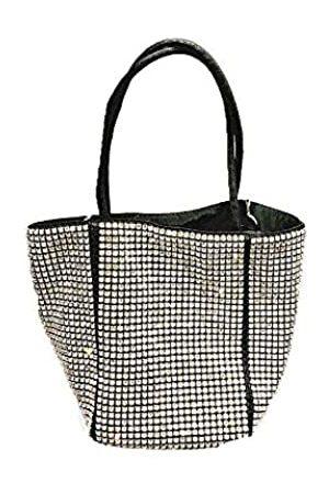 HappyERA Damen Handtasche mit Strasssteinbesatz, modisch