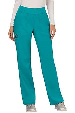 Cherokee Damen Mid Rise Straight Leg Pull-on Hose Tall - Blau - Large Hoch