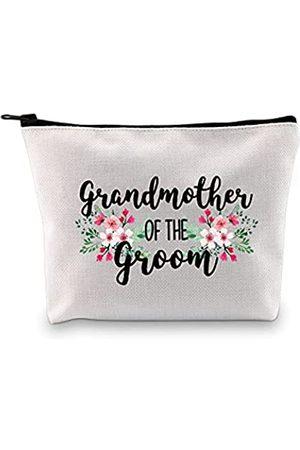 G2TUP Kosmetiktasche für die Großmutter des Bräutigams und Reise-Kosmetiktasche mit Reißverschluss