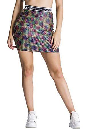Gianni Kavanagh Damen GK Holographic Tube Skirt Rock