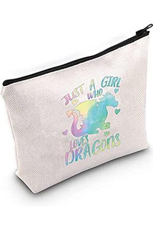 LEVLO Damen Clutches - Kosmetiktasche mit Drachen-Motiv, Geschenk für Tierliebhaber, Geschenk für Frauen