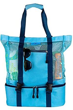 4simplethings Netz-Strandtasche mit abnehmbarem Kühlboden und verstellbarem Schultergurt für große Tragetasche und Strandtaschen für Frauen
