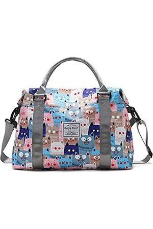 NRW Reisetasche Duffle Bag Wochenende Übernachtung Tasche für Frauen Mädchen mit niedlichem Muster trocken und nass getrennte Tasche Gym Tote Bag Sporttasche Umhängetasche wasserabweisend
