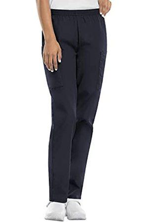 Cherokee Women's Size Workwear Elastic Waist Cargo Scrubs Pant, Pewter