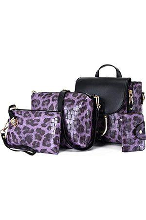 ZiMing Damen Rucksäcke - Damen Handtaschen PU Leder Leopard Print Rucksack Schultertaschen